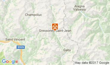 Mappa Gressoney Saint Jean Monolocale 110114