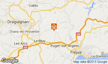 Mappa Roquebrune sur Argens Appartamento 92877