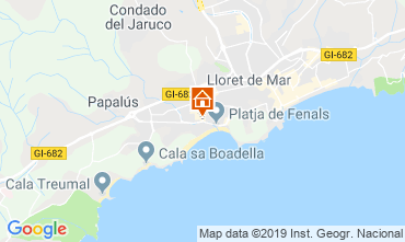 Mappa Lloret de Mar Appartamento 57226