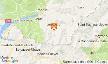 Mappa Les Orres Appartamento 111707