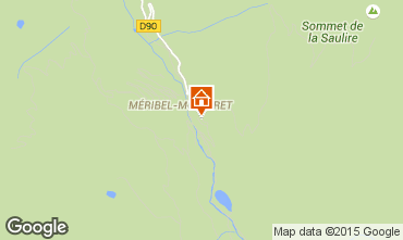 Mappa Méribel Appartamento 68404