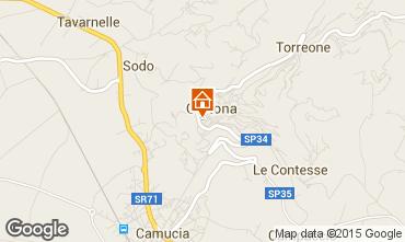 Mappa Cortona Casa 87280