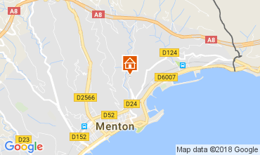 Mappa Menton (Mentone) Appartamento 113375