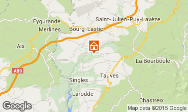 Mappa La Bourboule Agriturismo 70672