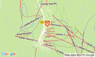 Mappa Les 2 Alpes Monolocale 106694