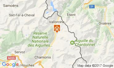 Mappa Chamonix Mont-Blanc (Monte Bianco) Chalet 706