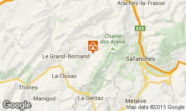 Mappa Le Grand Bornand Appartamento 101025