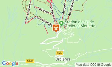Mappa Orcières Merlette Monolocale 2027