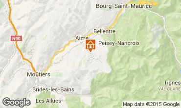 Mappa La Plagne Chalet 37760
