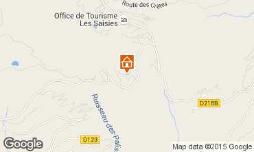 Mappa Les Saisies Appartamento 2737