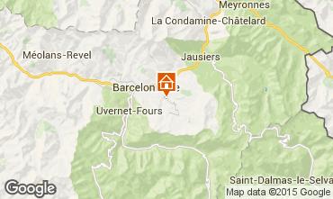 Mappa Le Sauze Monolocale 58356