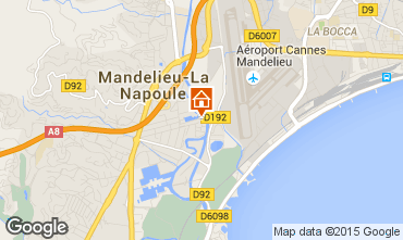 Mappa Mandelieu la Napoule Monolocale 40533