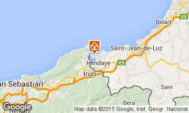 Mappa Hendaye Appartamento 99522