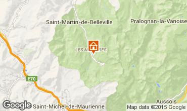 Mappa Les Menuires Appartamento 1610