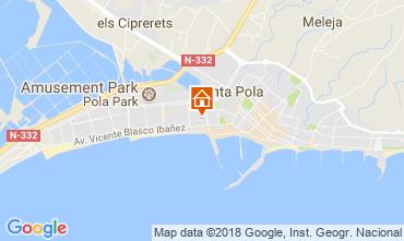 Mappa Santa Pola Appartamento 113816