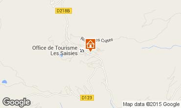Mappa Les Saisies Appartamento 77004