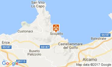 Mappa Scopello Appartamento 107603