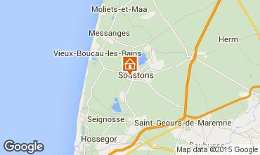 Mappa Soustons Villa  77329