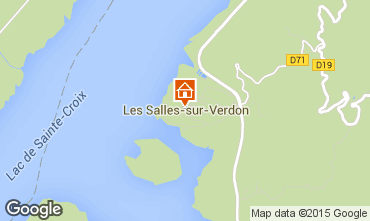 Mappa Les Salles sur Verdon Casa mobile 93139