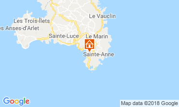 Mappa Sainte Anne (Martinique) Bungalow 8125
