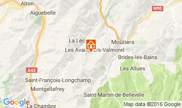 Mappa Valmorel Chalet 106383