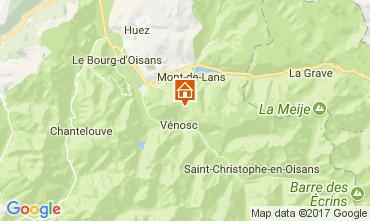 Mappa Les 2 Alpes Appartamento 111830