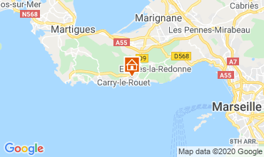 Mappa Carry le Rouet Villa  110191