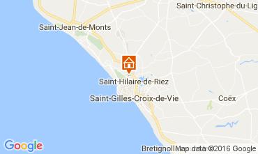 Mappa Saint Hilaire de Riez Casa mobile 107395