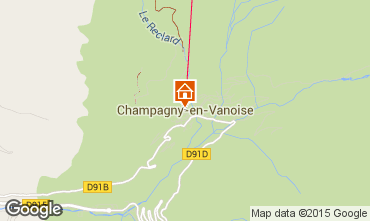 Mappa Champagny en Vanoise Appartamento 578