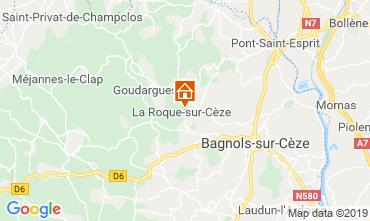 Mappa Bagnols sur Cèze Appartamento 120086