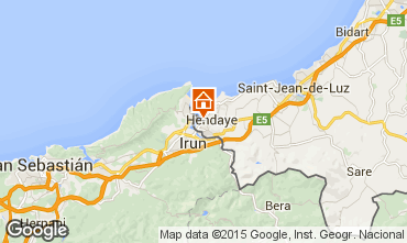 Mappa Hendaye Appartamento 63575