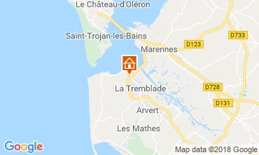 Mappa Ronce-les-Bains Casa mobile 95159