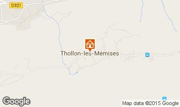 Mappa Thollon Les Mémises Appartamento 81227