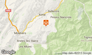 Mappa La Plagne Appartamento 81512