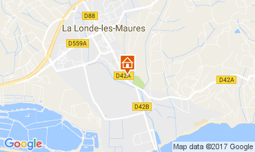 Mappa La Londe les Maures Casa 108421