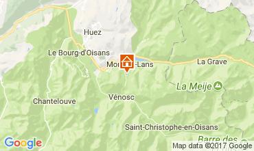 Mappa Les 2 Alpes Appartamento 25264