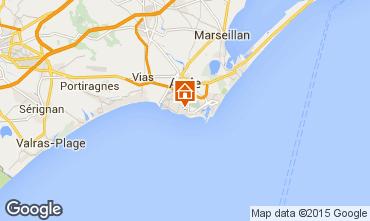 Mappa Cap d'Agde Villa  100129