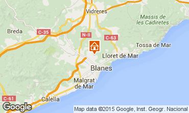 Mappa Blanes Appartamento 77586