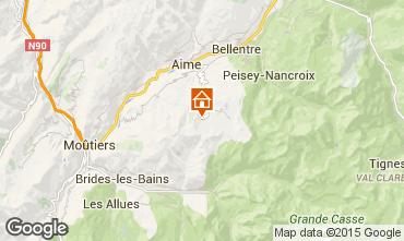 Mappa La Plagne Appartamento 39215