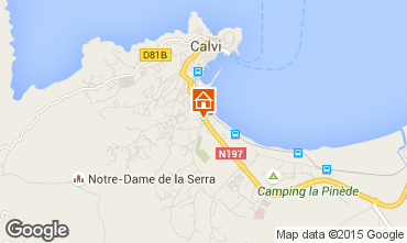 Mappa Calvi Appartamento 96733