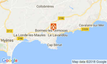 Mappa Bormes Les Mimosas Villa  114556