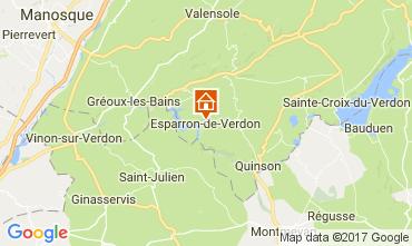 Mappa Esparron-de-Verdon Casa 107854