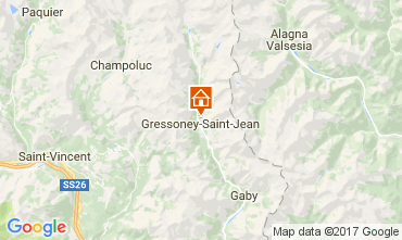 Mappa Gressoney Saint Jean Chalet 111344