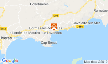 Mappa Le Lavandou Appartamento 107760