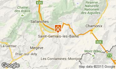 Mappa Saint Gervais Mont-Blanc Chalet 2549
