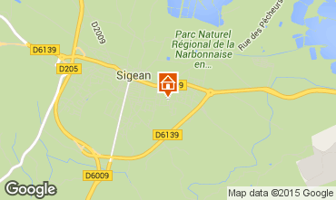 Mappa Sigean Casa 10519