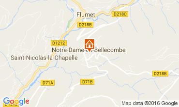 Mappa Notre Dame de Bellecombe Appartamento 107301