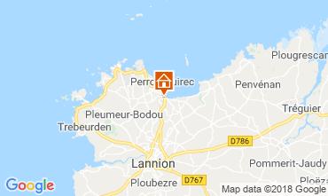 Mappa Perros-Guirec Appartamento 116478