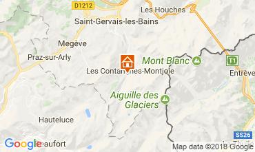 Mappa Les Contamines Montjoie Agriturismo 115103