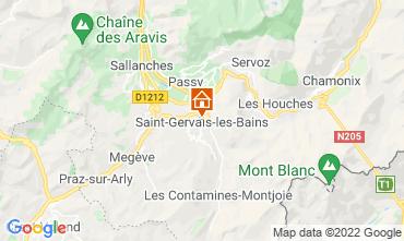 Mappa Saint Gervais Mont-Blanc Appartamento 66844